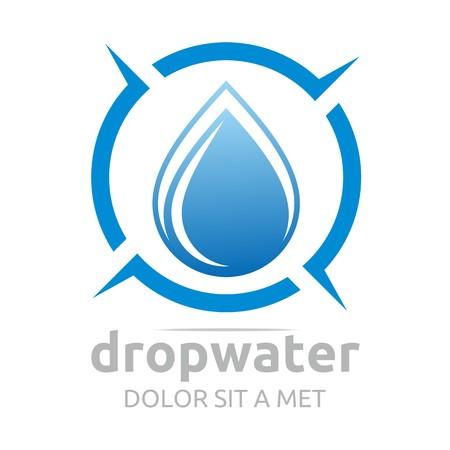abstract template: Logo drop water vector shapes symbol