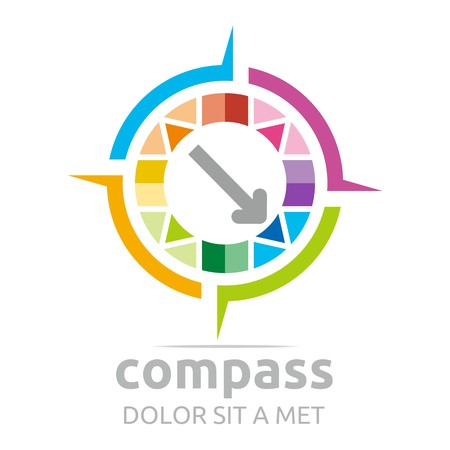 absract: Logo compass arrow circle icon absract