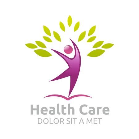 Healthcare vector logo Human character