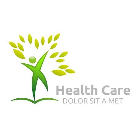 logo vector: Healthcare vector logo Human character