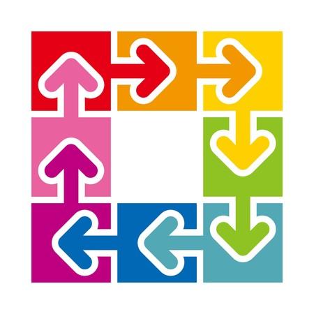l natural: Logo Abstract Circle Arrow Star Design Illustration