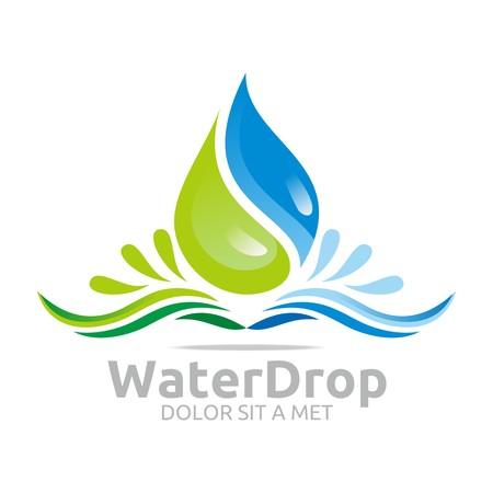 ロゴ水ドロップ シンボル アイコン ベクトル ビジネス  イラスト・ベクター素材