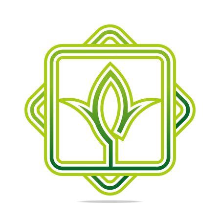 nature vector: Logo Green nature Ecology vector icon