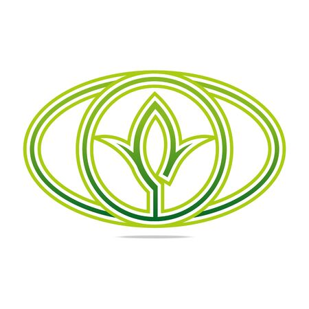 Logo Green nature Ecology vector icon