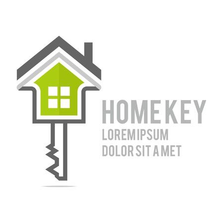 Logo home key security symbol vector Vectores