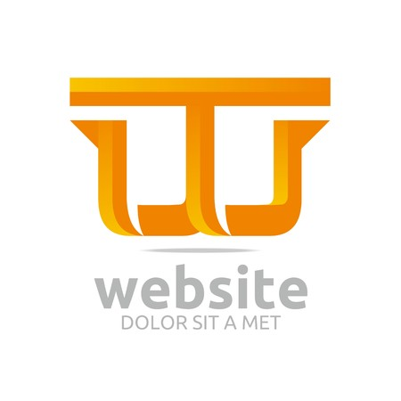 vectorial: Logo letter vectorial w icon symbol