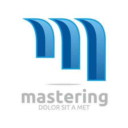 vectorial: Logo letter vectorial m icon symbol