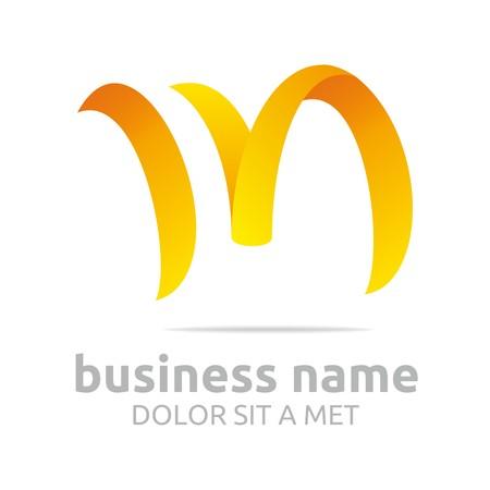 Logo abstrakten Buchstaben m Formen Symbol Vektor- Standard-Bild - 45412663