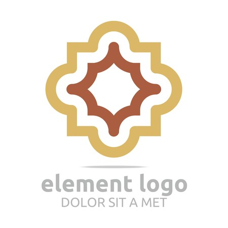 arch: Logo Brown Arch Element Design Vector Abstract