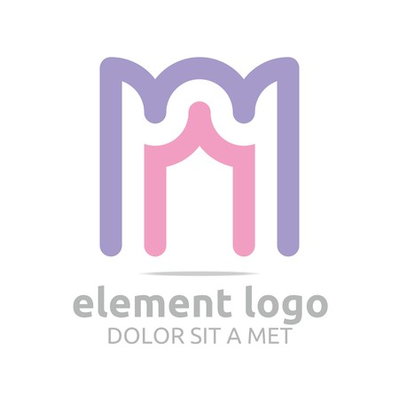 rosy: Logo Arch rosy purple Element Design Vector Abstract