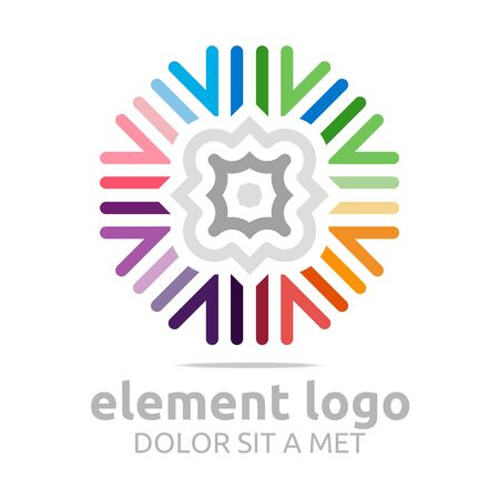 pollination: Logo Colorful Elements Lines Design Abstract