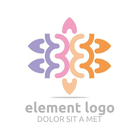 gyration: Logo Colorful Arch Element Design Vector Abstract