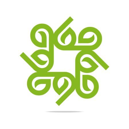 Logo Go Green Leaf Greening Symbol Icon Vector