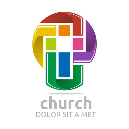 baptist: Logo Chruch Croos Christian Icon Symbol Abstract