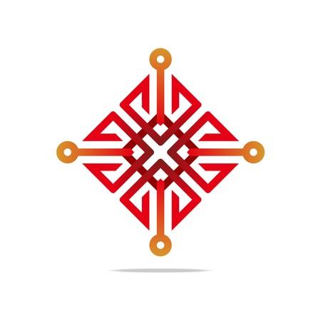 Logo Arrow red Color connecting Design Symbol Icon