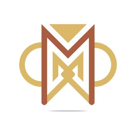 semicircle: Logo Design Element Letter M Triangle Semicircle Icon Symbol Vector