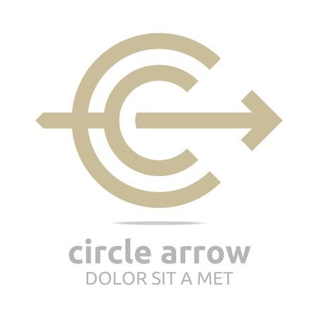 Logo Design Letter C Arrow Brown Icon Symbol Abstract Vector