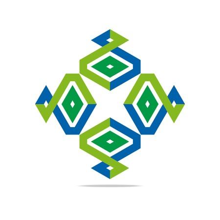 shuriken: Logo Design paralelogramo Shuriken S�mbolo Icono abstracto del vector