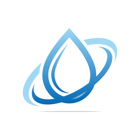 Logo Design Water Drop Ring Symbool Icon Abstract Vector