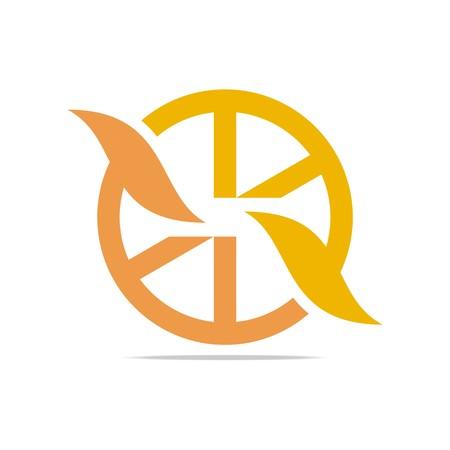 alloy: Logo Icon Circle Orange Shapes Design Symbol Abstract Alloy Wheels Illustration