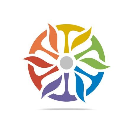 spin: Logo Abstract Design Circle Spin Symbol Icon Vector