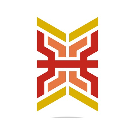 Logo Abstract Letter X Symbol Hexa Connecting Icon Element Vector
