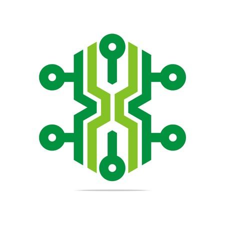 hexa: Logo Abstract Symbol Hexa Connecting Icon Element Vector