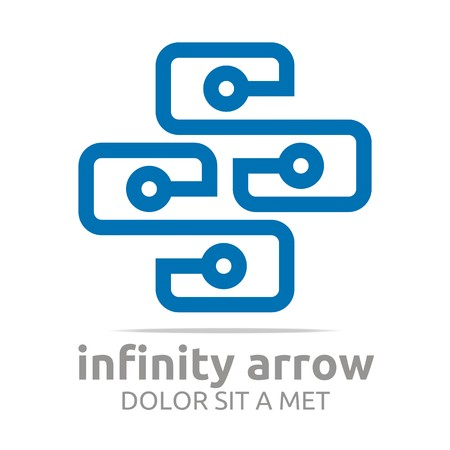 logo element: Logo Abstract Design Connect Infinity Circle letter