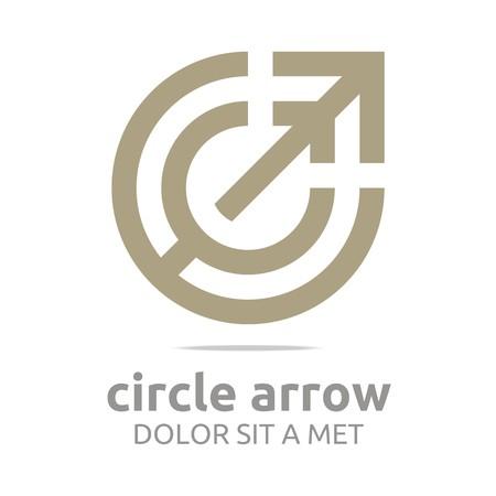 Logo Design Lettre C Flèche Brown Symbole de l'Icône Vecteur Résumé