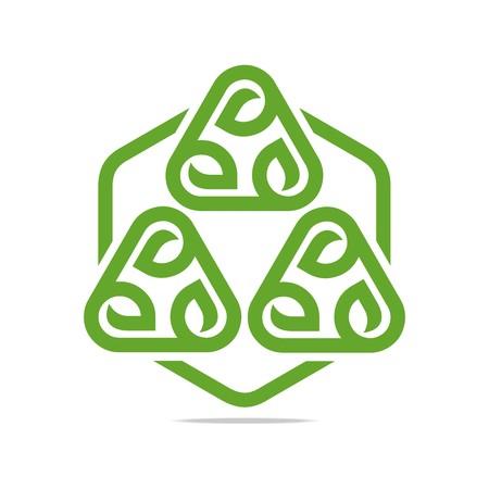 Logo Design Go Green Garden Plants Circle Icon Symbol Abstract