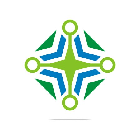hexa: Logo Abstract Star Symbol Hexa Connecting Icon Element Vector