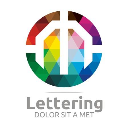 verbs: Logo Alphabet Abstract Rainbow Letter Initial M Symbol Icon Design Vector Illustration