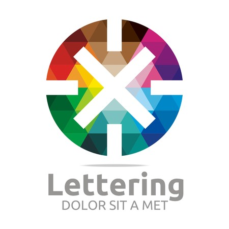 verbs: Logo Alphabet Abstract Rainbow Letter Initial X Symbol Icon Design Vector Illustration