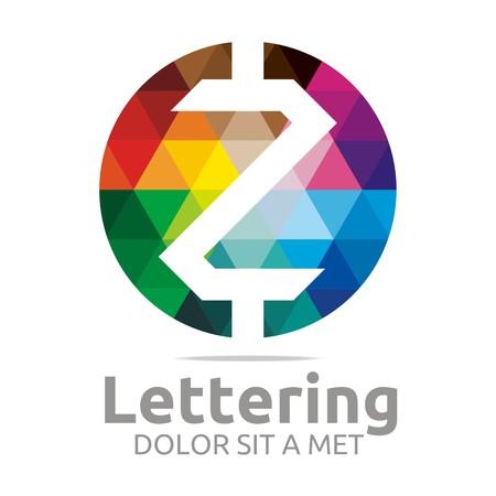 Logo Alphabet Abstract Rainbow Letter Initial Z Symbol Icon Design Vector