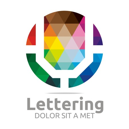 verbs: Logo Alphabet Abstract Rainbow Letter Initial U Symbol Icon Design Vector