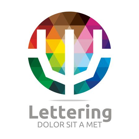 verbs: Alphabet Abstract Rainbow Letter Initial W Symbol Icon Design Vector Illustration
