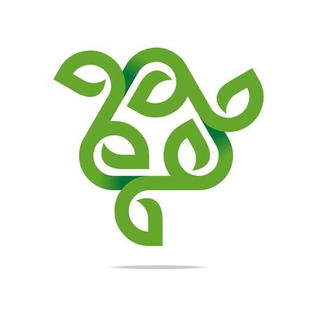 go green logo: Logo Design Go Green Garden Plants Circle Icon Symbol Abstract Illustration