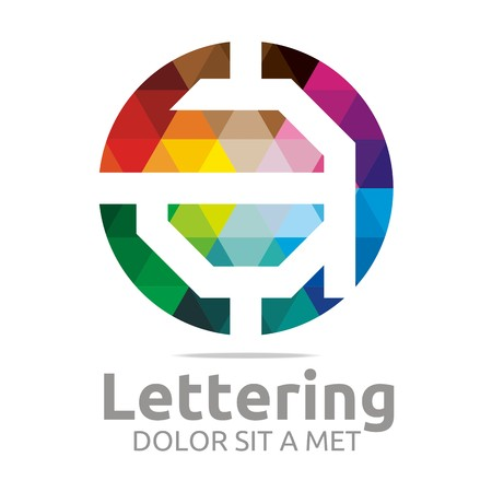 Logo Alphabet Abstract Rainbow Letter Initial A Symbol Icon Design Vector Illustration