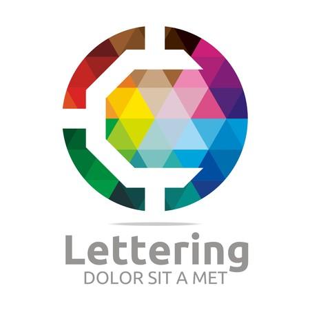 verbs: Logo Alphabet Abstract Rainbow Letter Initial C Symbol Icon Design Vector