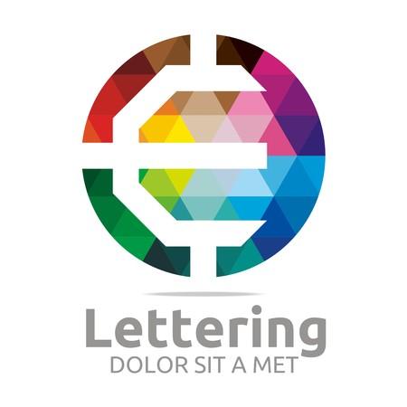 verbs: Logo Alphabet Abstract Rainbow Letter Initial E Symbol Icon Design Vector