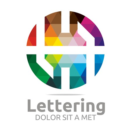 verbs: Logo Alphabet Abstract Rainbow Letter Initial H Symbol Icon Design Vector