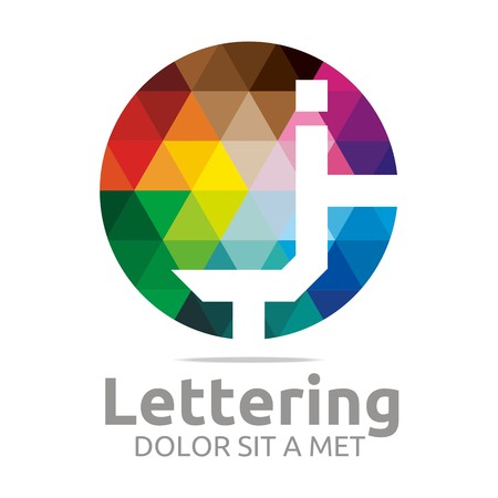 structured: Logo Alphabet Abstract Rainbow Letter Initial J Symbol Icon Design Vector Illustration