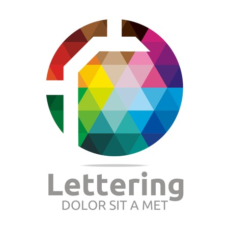 verbs:  Alphabet Abstract Rainbow Letter Initial R Symbol Icon Design Vector Illustration