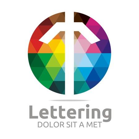 verbs: Logo Alphabet Abstract Rainbow Letter Initial T Symbol Icon Design Vector Illustration