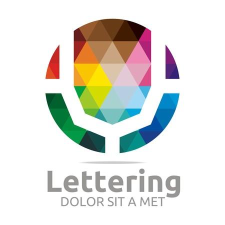 verbs:  Alphabet Abstract Rainbow Letter Initial V Symbol Icon Design Vector Illustration