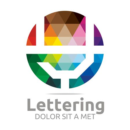 structured:  Alphabet Abstract Rainbow Letter Initial Y Symbol Icon Design Vector