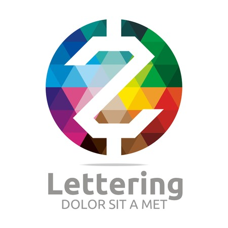 structured: Logo Alphabet Abstract Rainbow Letter Initial Z Symbol Icon Design Vector