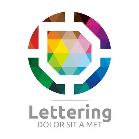 verbs: Logo Alphabet Abstract Rainbow Letter Initial D Symbol Icon Design Vector