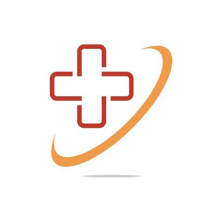 Logo symbol red medical perfect performance design vector