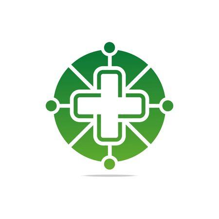perfect: Logo symbol green medical circle good perfect performance design